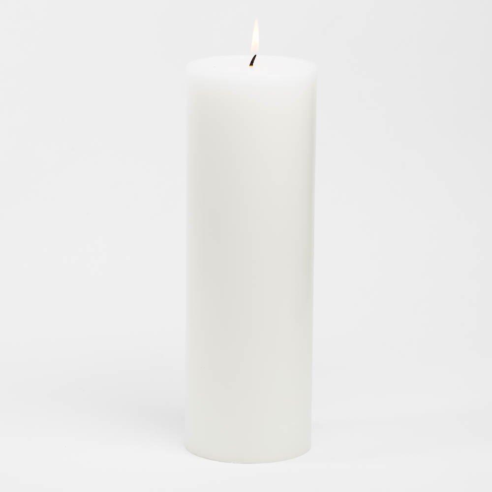 Richland 4'' x 12'' White Pillar Candles Set of 6