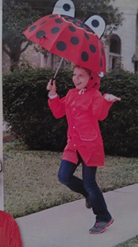 Kids Ladybug Raincoat and Umbrella Set