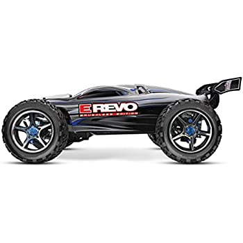 Traxxas E-Revo Brushless: 1/10 Scale 4WD Electric Racing Monster Truck with TSM/TQi 2.4GHz Radio System, Silver