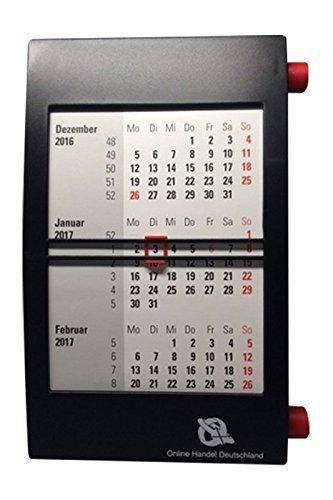 Calendario di ufficio 3 mesi per 2 anno, con rotazione meccanico, nero Online Handel Deutschland (Wort-/Bildmarke) 5000-d3