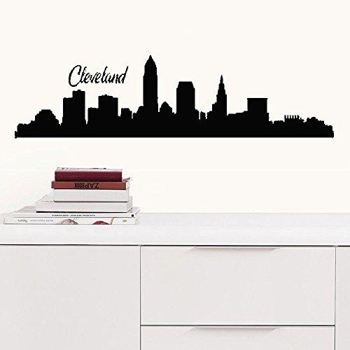- faleio Wall Stickers Art Decor Decals Fieldstone Cleveland Ohio City Skyline Sofa Background for livingroom Sofa Background for livingroom