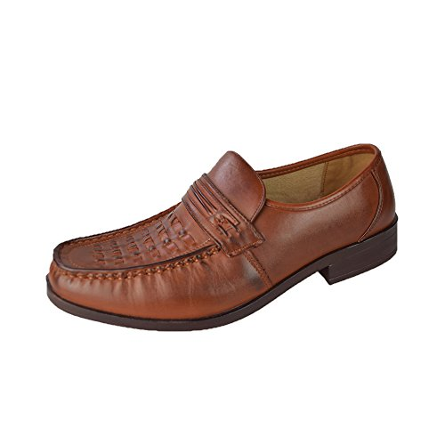 Chaussures à Enfiler pour hommes Taille 6–11, Marron, Taille 40
