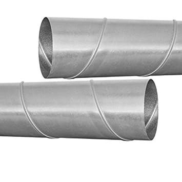 L/üftungsrohr /Ø 100 bis 355 mm L/änge 1000mm Wickelfalzrohr /Ø 250 mm