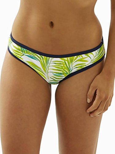 Cleo by Panache Women's Avril Classic Bikini Bottom, Palm Print, - Outlet Store Spring Palm