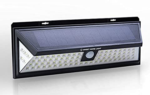 Solar Powered Security Lights with 86 leds, Motion Activated Outdoor Lights, Outside Solar Lights, Motion Sensor Solar Patio Lights, Solar Deck Lights or Solar Fence Lights from (Exterior Doors With Side Lights)