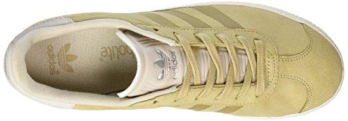 adidas Unisex-Kinder Gazelle Fashion Sneaker Braun (linen Khaki/Clear Brown/Chalk White)