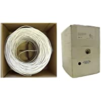 GadKo Shielded Plenum Security Cable, White, 18/4 (18 AWG 4 Conductor), Stranded, CMP, Pullbox, 1000 foot