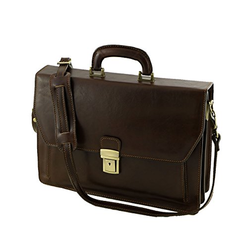Tuscany Di Mega Moro Top Dark handle Men's Brown Bag testa dxq4T8wax
