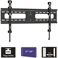 Cmple - Heavy-Duty Fixed Wall Mount for LED, Plasma, LCD TV's 37-63'