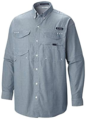 Columbia Sportswear Men's Big and Tall Super Bonehead Classic Long Sleeve Shirt by Columbia (Sporting Goods)