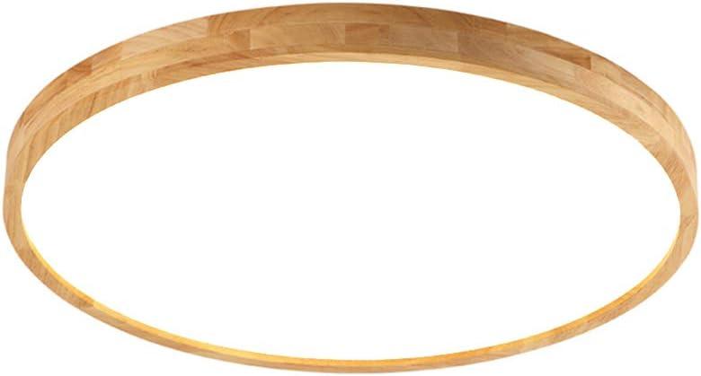 B/üro /Φ70cm Runde Holz Lampe f/ür Wohnzimmer Esszimmer Kinderzimmer Leuchte Decke Licht Holzlampe Schlafzimmer kaltwei/ß 6000K 5600lm 70W LED Deckenleuchte Nordic Modern Holz Deckenlampe