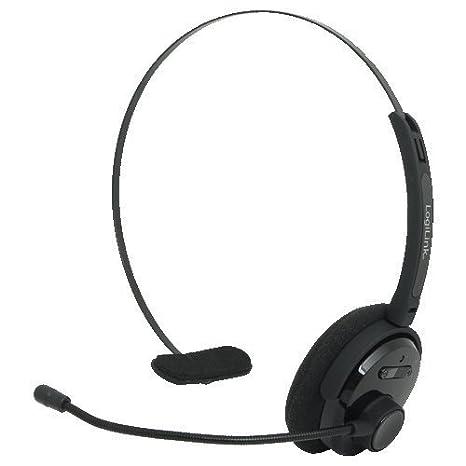 LogiLink BT0027 - Auriculares inalámbricos de diadema (Bluetooth v3.0 + EDR, mono, con headby y micrófono) negro: Amazon.es: Electrónica