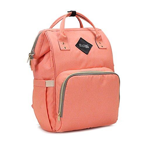 lokep bolsa de pañales multifunción impermeable mochila de viaje bolsas de pañales para cuidado del bebé, gran capacidad, elegante y duradero verde verde naranja