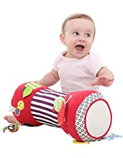 Correct Krabba rulle baby rullkudde liten baby fitness leksak multifunktionell krypande kudde krypkudde baby einstein mjuk krabbning kudde baby benägen position kudde hjälper spädbarn med första krypande