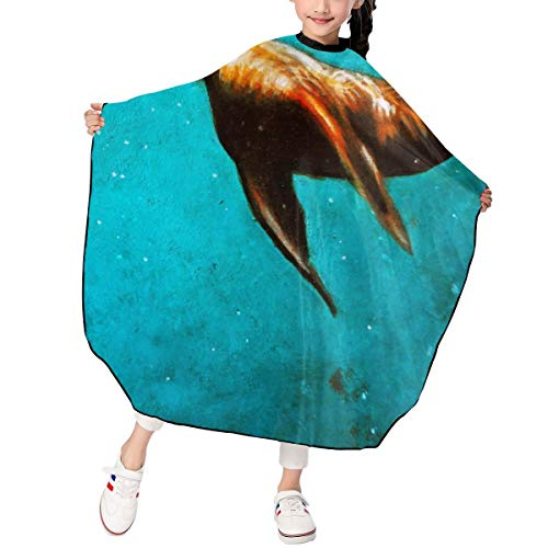 - MJhair Sea Animal Harbor Seal Kids Haircut Barber Cape for Hair Cutting Professional Home Salon Hairdressing Smock Cover