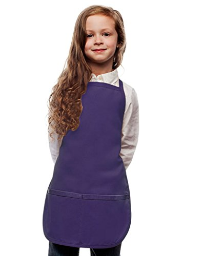 Purple Kids Art Smock, Apron, Extra Large, Poly/Cotton Twill Fabric