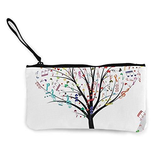 Coin Purse Music Tree Men Fastener Canvas Wallets TravelDesigner Bag