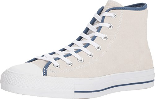 Converse Unisex Chuck Taylor All Star Pro Hi White/Mason Blue/Gum Basketball Shoe 6 Men US / 8 Women US