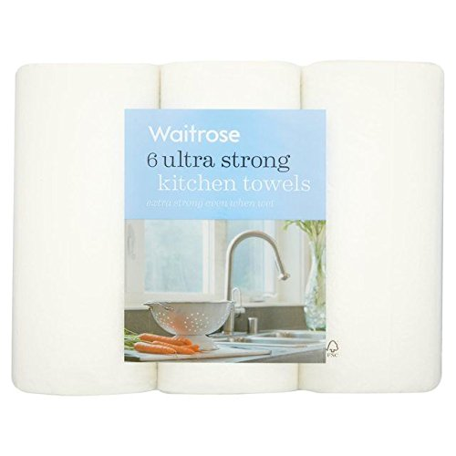 Ultra Strong Kitchen Towel White Waitrose 6 per pack (Pack of 6) by WAITROSE