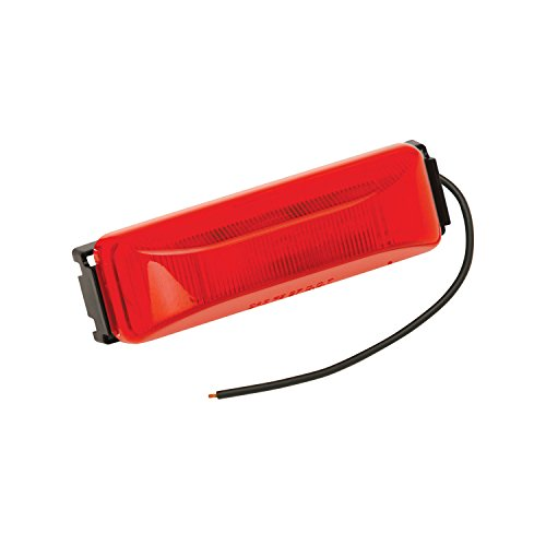 Bargman 42-38-033 Clearance/Side Marker Light (LED with Black Base - Red)