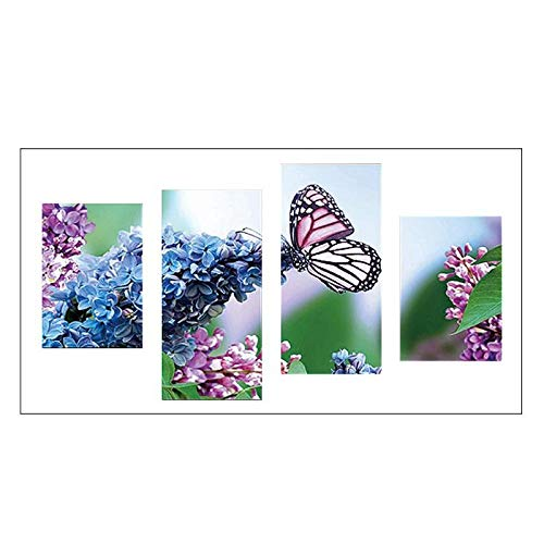 Diamond Painting Cross Stitch - Butterfly Flowers 5d Diy Full Drill Diamond Painting Multi Pictures Combination Crafts Embroidery - Pen Adults Kits Full Turtle Set Star Dragon Wars For