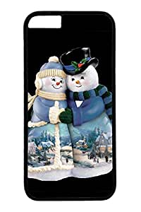 iPhone 6 Case, Personalized Unique Design Covers for iPhone 6 PC Black Case - Snow Couple