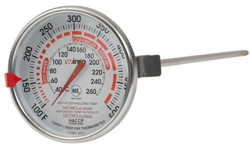 Winco 3-Inch Dial Deep Fry/Candy Thermometer with 12-Inch ()