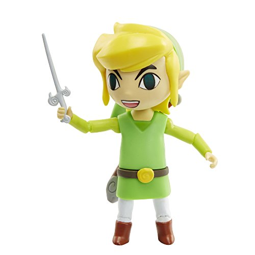 World of Nintendo Link Wind Walker with Wand Action Figure, 4