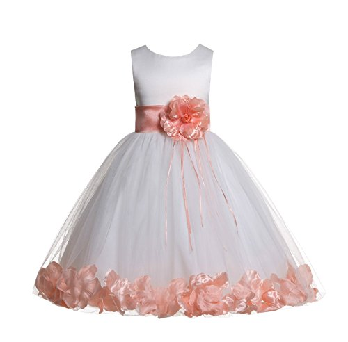 ekidsbridal Rose Petals Ivory Flower Girl Dress Birthday Girl Dresses Reception Dress 007ss 8
