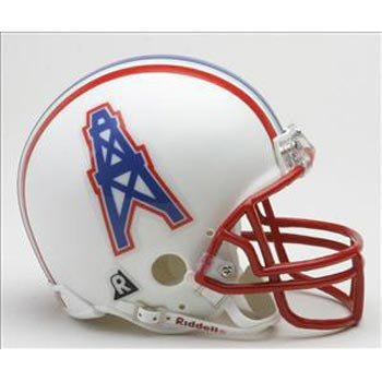 Riddell Tennessee Titans / Houston Oilers Mini Replica Throwback (Nfl Throwback Football Helmet)