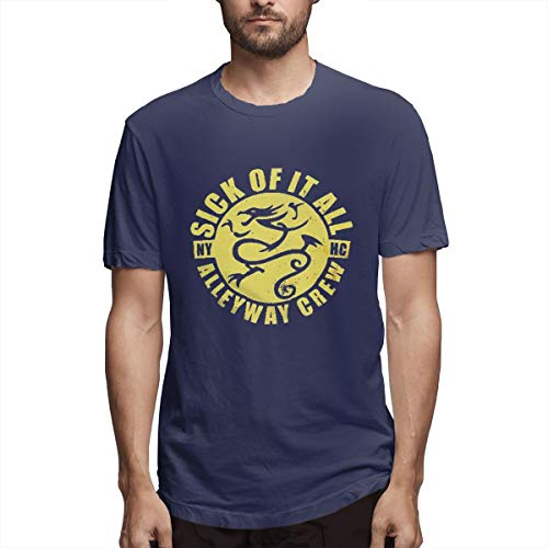 Sick Of It All Dragon - Sealiarks Sick of It All Dragon Fashion Personality T-Shirt for Men Navy