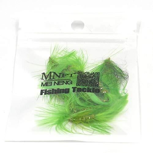 Fishing Lures - 10PCS Wooly Bugger Olive Body Green Fishing Flies Trout Steelhead Long Shank Fly Tying 10# Hooks - (Color: 10PCS)