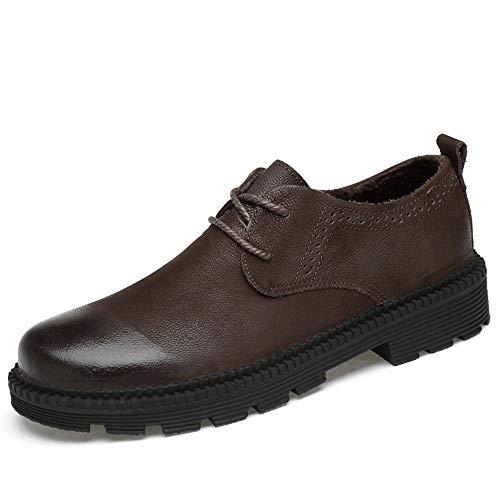 casual tonda uomo pelle Uomo Fondo Oxford 2018 Warm formali spesso Testa EU calde Black da Jiuyue Scarpe in shoes Color Pelle Business Scarpe da Marrone Dimensione normale Abiti lavoro 40 Cotone wvO6qPxX6B