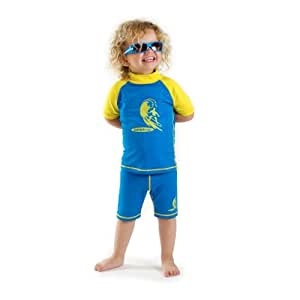 Amazon.com : Boys size 8 Blue/yellow Sun UV Protective