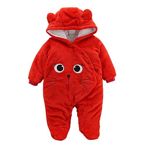 Baby Bear Velvet Quilted Puffer Suit Infant Animal Snowsuit Jumpsuit Costume