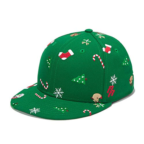 Riorex Hip hop caps Fashion Animal Embroidery Baseball Cap for Men Adjustable Leather Belt Strapback Baseball Cap (Green-Christmas) ()