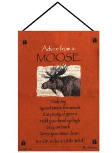 Manual Advice From a Moose Woven X Your True Nature Wall Hanging, 17 X 26-Inch (Hanging Moose Wall)