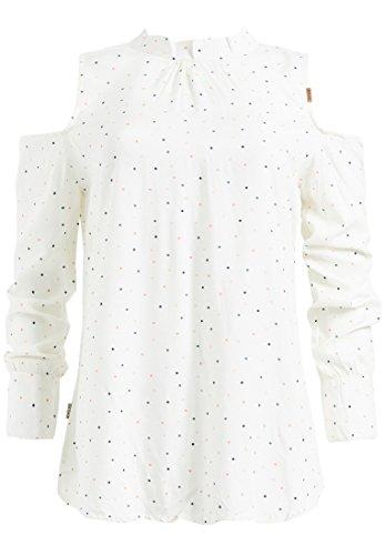 Punkten Mit Para Lunares Manga Mao Khujo Cuello Mujer Weiß Camisas Larga xzw1nYRBvq
