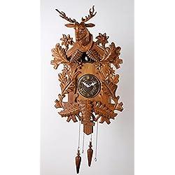 Deluxe 20-inch Large Elk Head Cuckoo Clock, Home Decor, Specialty Quality, Quartz Timepieces - C00035