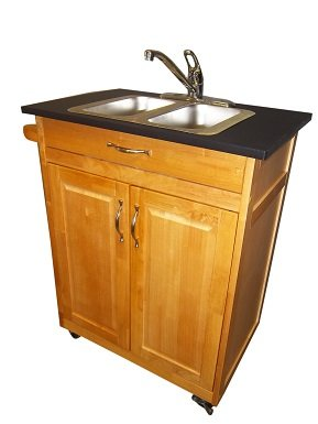 Double Compartment Self Contained Portable Sink Model PSW-009D