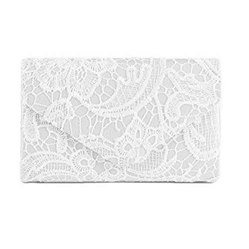 enveloppe main de sac Femmes soirée embrayage élégant main White à mariage Floral Apricot parti sac dentelle Color à 7nwqYtW6rq