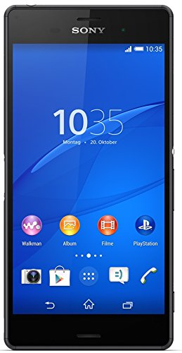 "Sony Xperia Z3 - Smartphone Android de 5.2"" (Full HD 1920 x 1080 p, Qualcomm Snapdragon 2.5 GHz, cámara 20.7 MP), Negro"