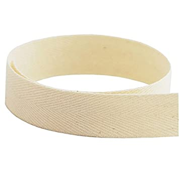 Multiple Widths Available Medium Weight - USA Made 3//4 Natural Cotton Twill Tape 72 Yards