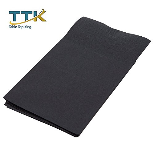 ReadyNap 15'' x 17'' Black Pocket Fold Dinner Napkin - 800/Case by TableTop king by TableTop King