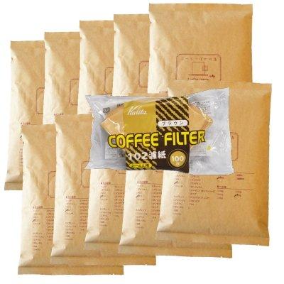 カリタ102コーヒーフィルター 2~4人用 100枚入り 『ノルウェーウッド』 5kg 500杯~700杯 [豆のまま(オススメ)] コーヒー豆/浅煎り セット 豆のまま(オススメ)  B00KQHYHT2