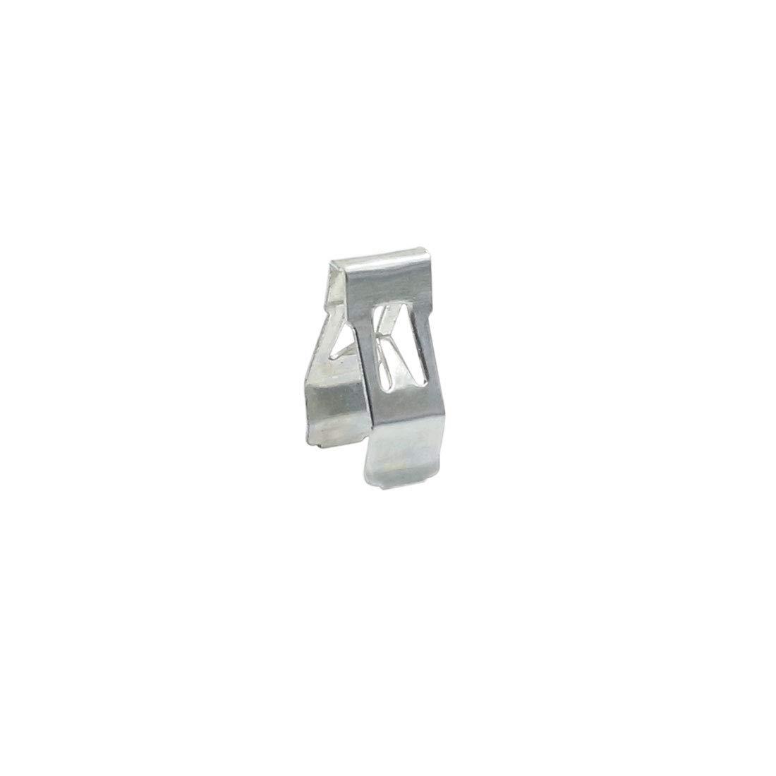 X AUTOHAUX Car Dashboard Retainer Console Panel Metal Clips 15.5 x 10mm 6pcs