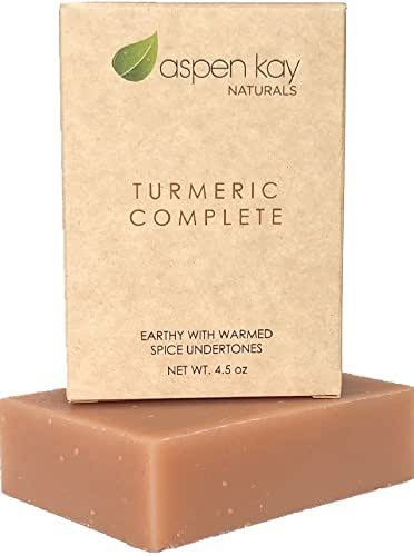 Organic Turmeric Soap - 100% Natural and Organic - Loaded with Organic Turmeric. Gentle Soap. 4.5oz Bar.