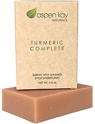 Organic Turmeric Soap - 100% Natural and Organic - Loaded with Organic Turmeric. Gentle Soap. 4.5oz Bar.