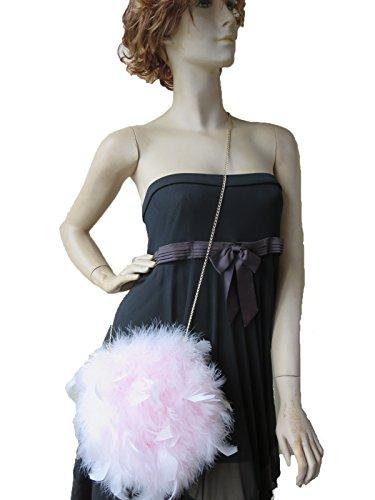 tracolla Dtldwn pezzi con donna taglia a per unica di rosa Borsa piume UzMqpVSG