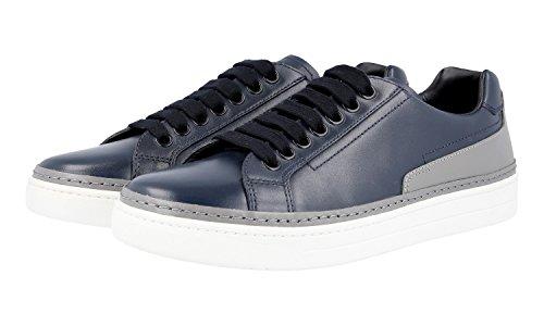 Prada Mens 4e2831 O64 F0jqk Läder Sneaker
